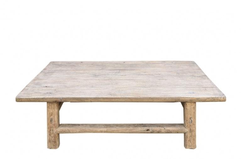 Petite Lily Interiors Coffee table vintage Elm Wood - 108x64xh35cm - unique piece