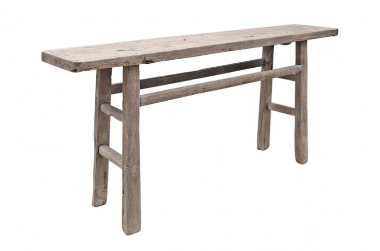 Petite Lily Interiors Console Table Vintage - Bois d'orme - 180x40xh86cm
