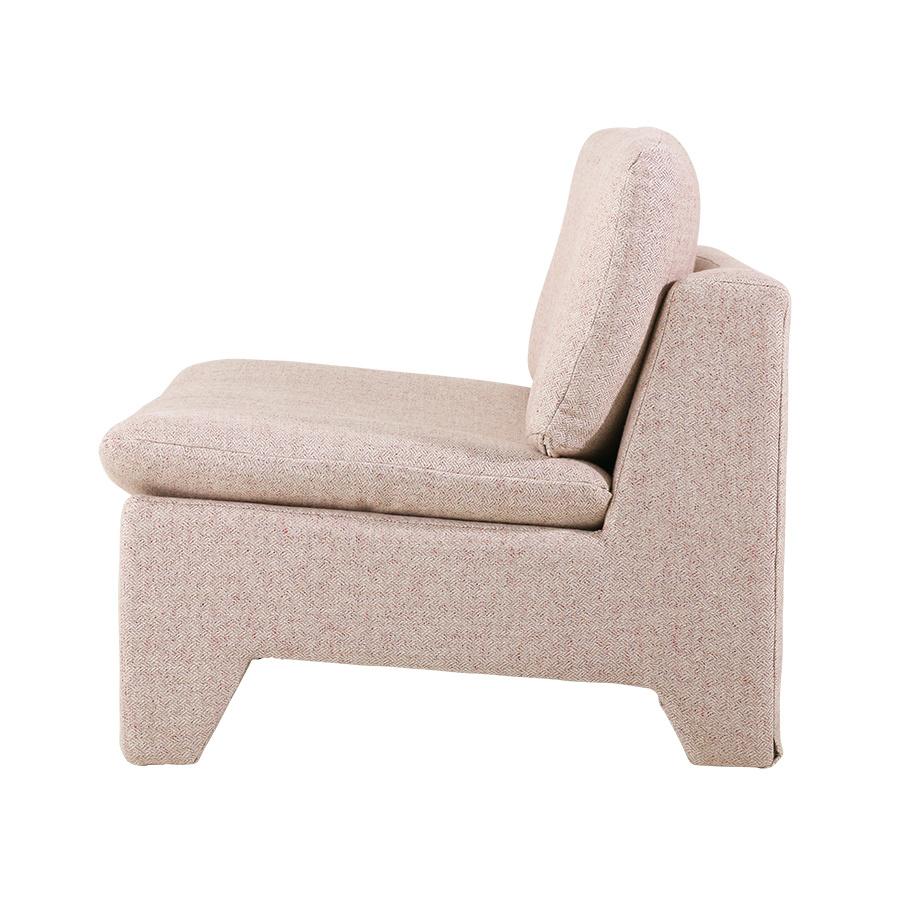 HK Living Retro lounge fauteuil boucle Pink melange - HK Living