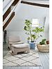 HK Living Retro lounge ottoman boucle pink melange - 82x51x45cm - HKliving