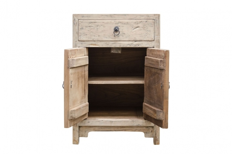 Petite Lily Interiors Chevet vintage en bois brut - 50x40xh75cm - piece unique