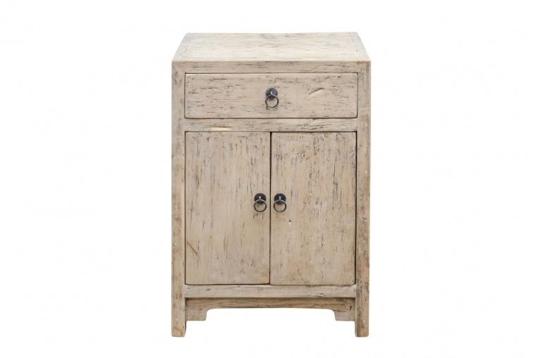 Petite Lily Interiors Vintage side table - raw wood - 50x40xh75cm - unique item