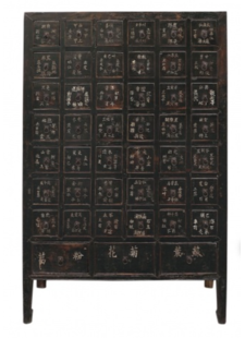 Petite Lily Interiors Antique Chinese doctors cabinet - Unique Item