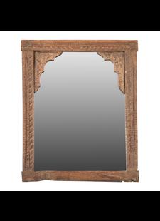 Petite Lily Interiors Miroir indien en bois - 50x38cm - Piece Unique
