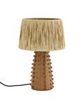 Madam Stoltz Table Lamp Terracotta  & raffia - Ø30xh45cm