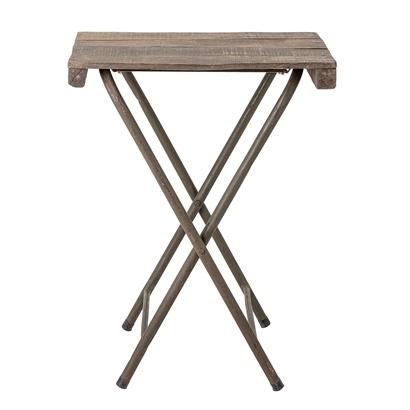 Bloomingville Table de bistrot pliante - métal et bois recyclés - L67xH75xW50cm
