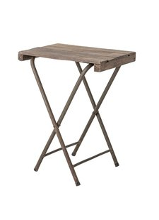 Bloomingville Factory folding bistro table - metal and old wood - L67xH75xW50cm