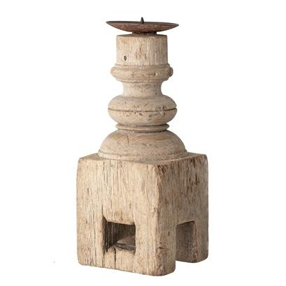 Bloomingville Bougeoir indien en bois - L10xH25xW10cm - Piece Unique
