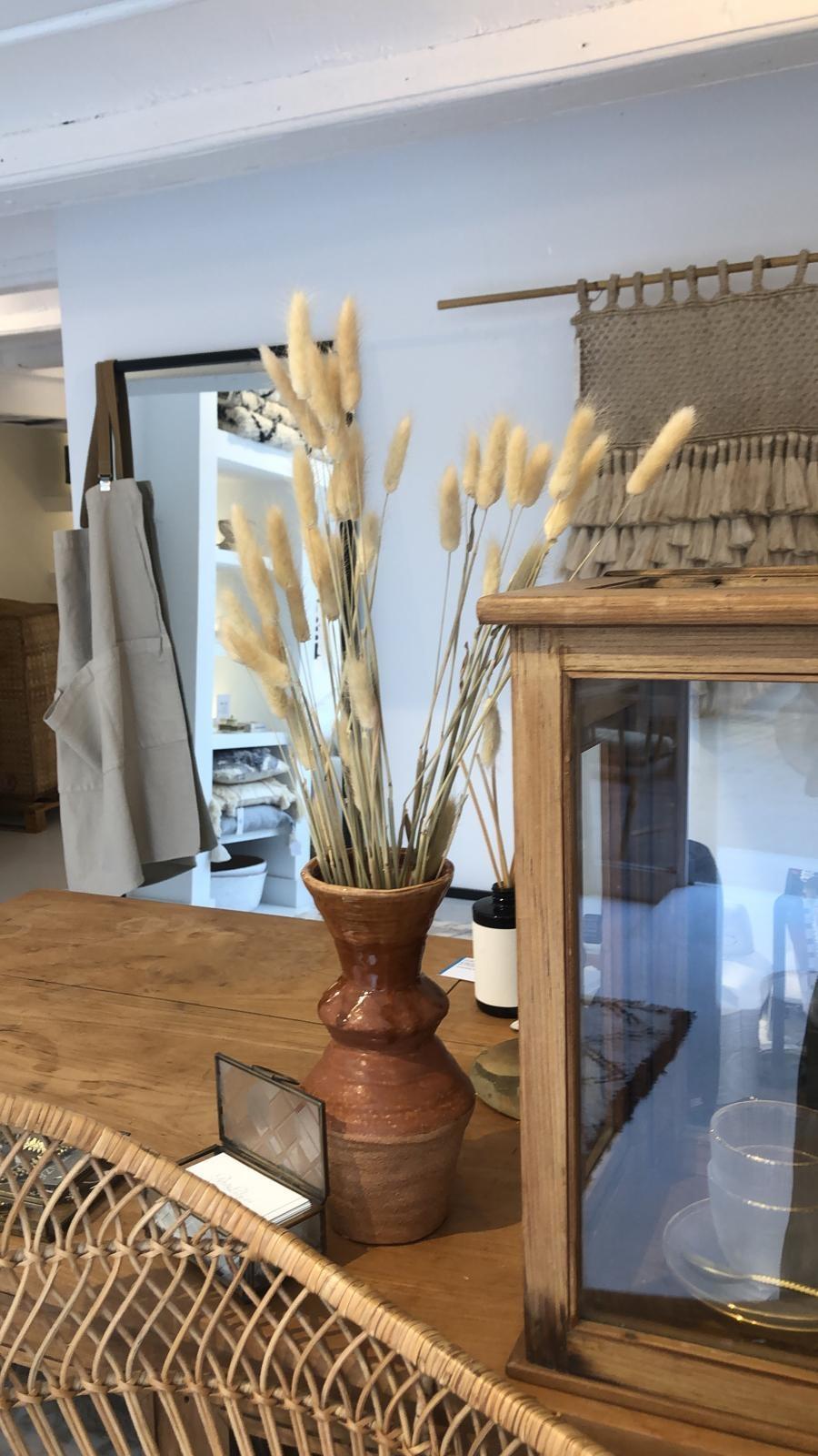 Tell me more Flowerpot stoneware - brown - Ø12,5xH24,5 - Bloomingville