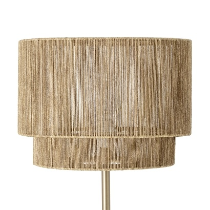 Bloomingville Floor lamp Paper & Brass / Metal - natural - Ø39xh150cm - Bloomingville