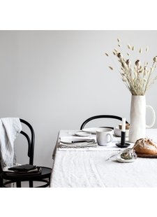 Tell me more Table cloth 100% stonewashed linen - 160x330cm - white - Tell Me More