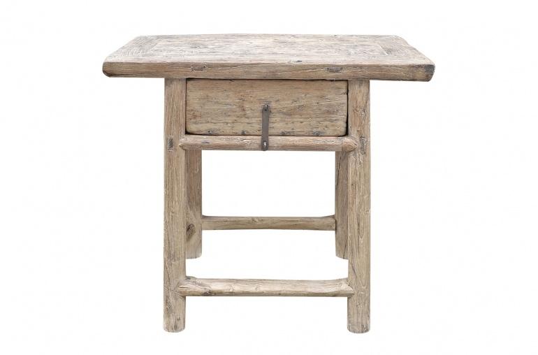 Petite Lily Interiors Table console vintage en Bois d'orme - Piece Unique - 77x44xh70cm