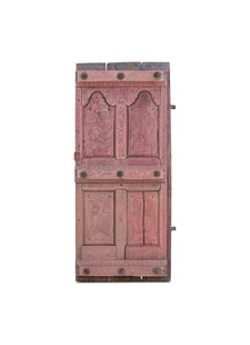 Petite Lily Interiors Indian carved door - pink - 78x15xh181cm - Unique Item