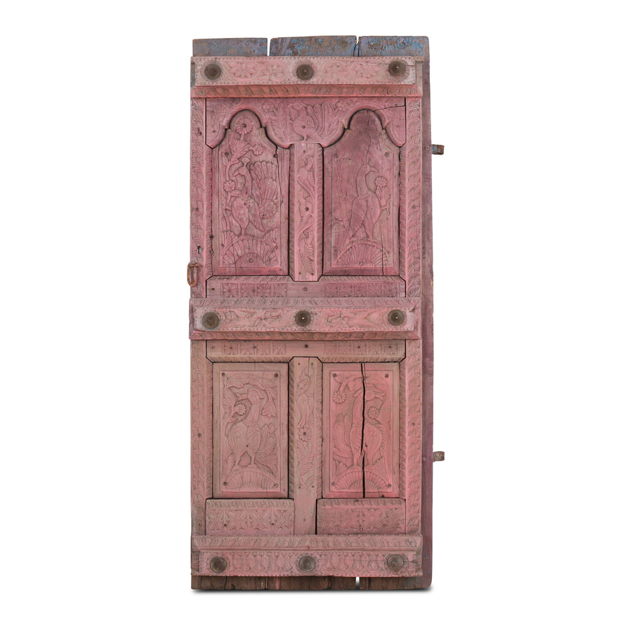 Petite Lily Interiors porte decorative indienne - rose - 78x15xh181cm - Piece Unique