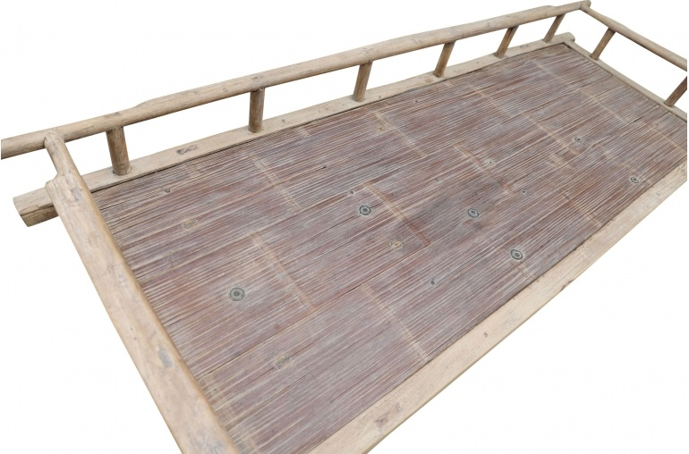 Petite Lily Interiors Raw wood Daybed - 197xW72xH57cm