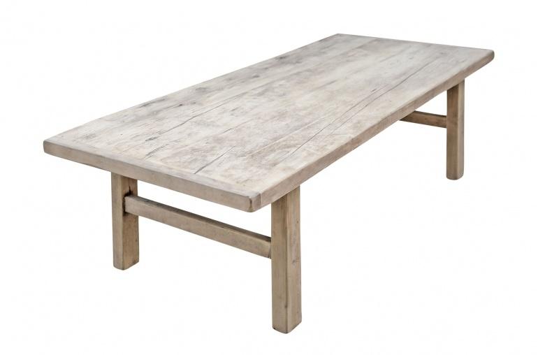 Snowdrops Copenhagen Coffee table vintage Elm Wood - 146x66xh44cm - unique piece