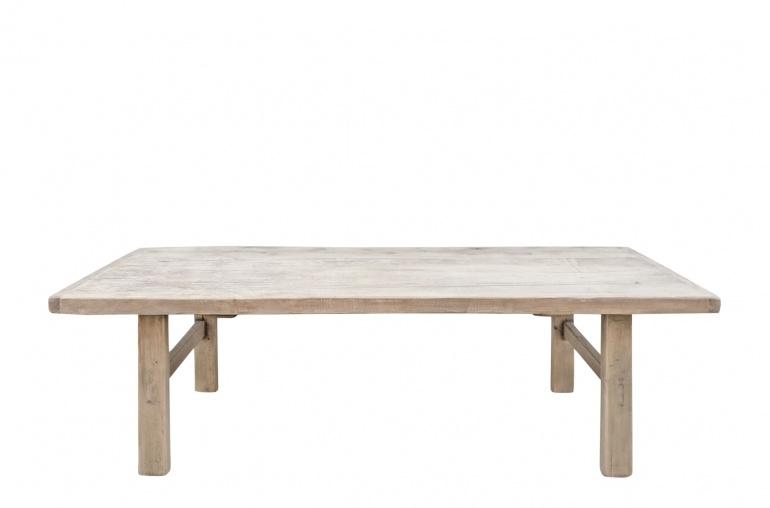 Snowdrops Copenhagen Table basse vintage bois d'orme - 146x66xh44cm - pièce unique