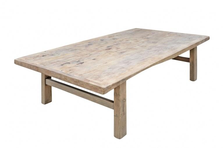 Snowdrops Copenhagen Coffee table vintage Elm Wood - 139x60xh43cm - unique piece