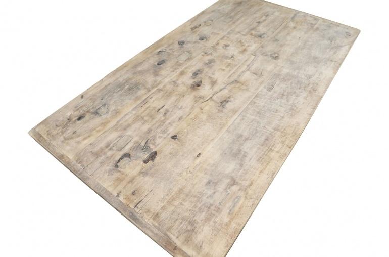 Snowdrops Copenhagen Table basse vintage bois d'orme - 139x60xh43cm - pièce unique