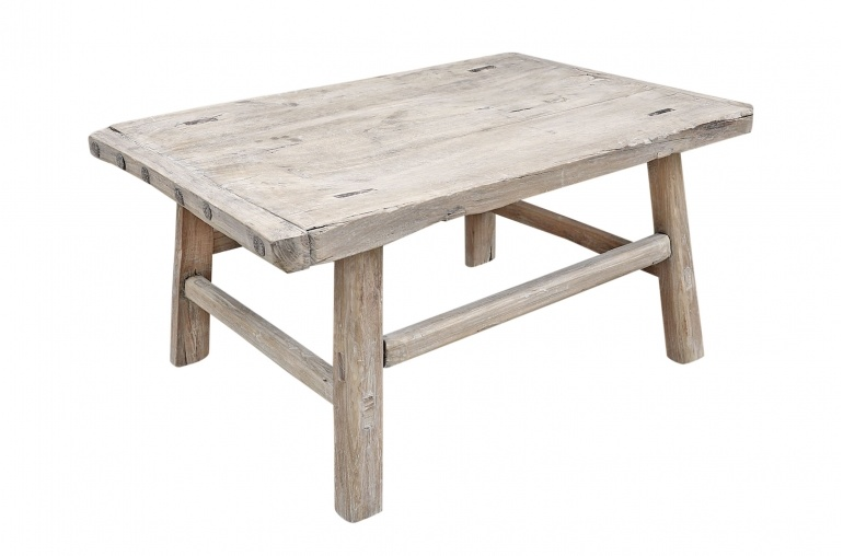 Snowdrops Copenhagen Table basse vintage Nuez - 86x60xh42cm - pièce unique
