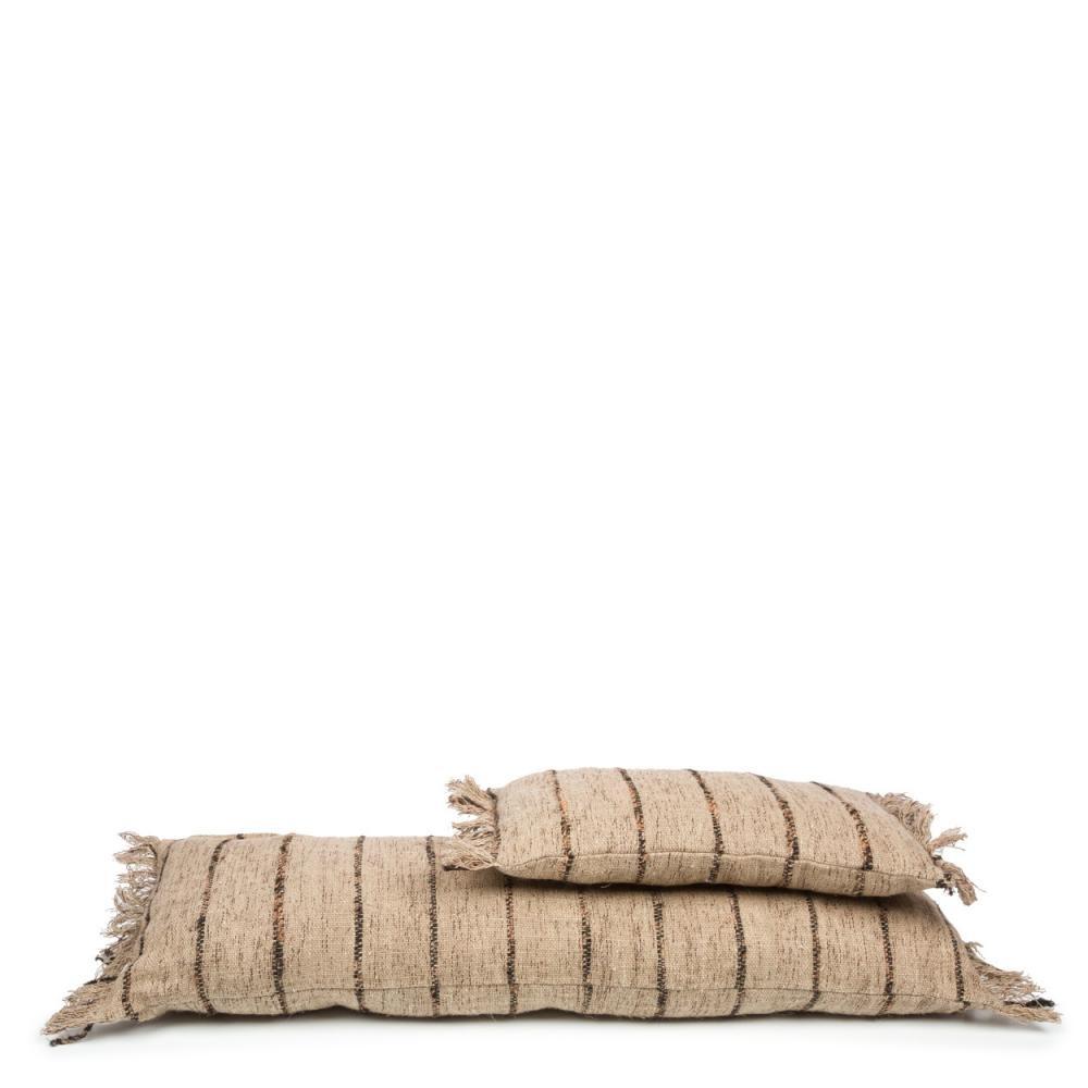 Petite Lily Interiors Cushion Boho - Beige / Black - L100xW35cm