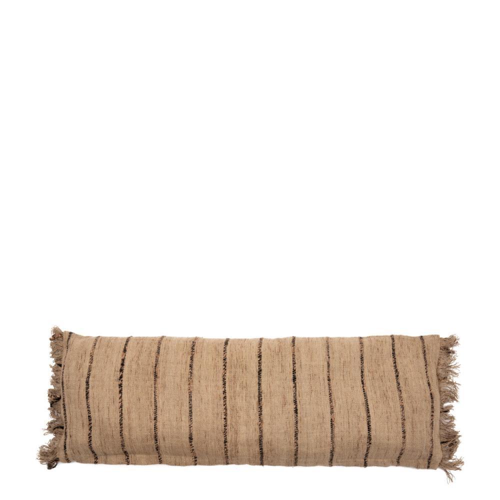 Petite Lily Interiors Coussin Boho - Beige / Noir  - L100xW35cm