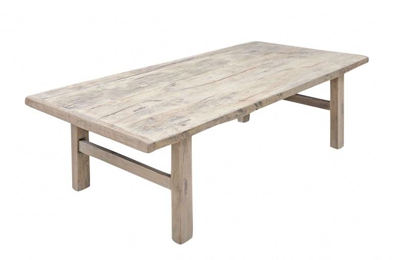 Snowdrops Copenhagen Table basse vintage bois d'orme - 148x69xh43cm - pièce unique