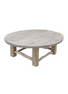 Petite Lily Interiors Table basse bois brut - rond - Ø125xh46cm - Unique Piece