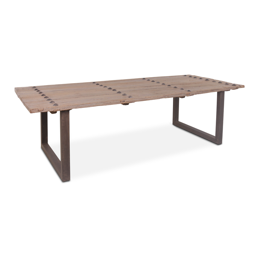 Snowdrops Copenhagen Dining table w/ table top old door - 277x113xh79cm