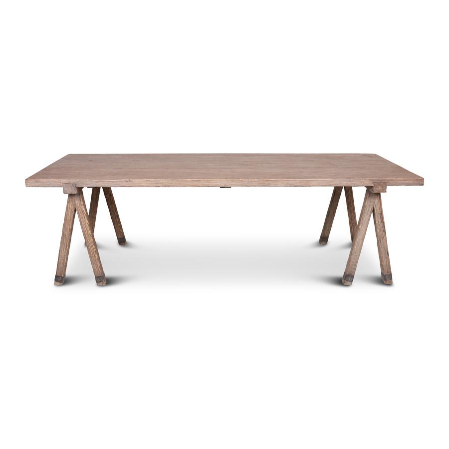 Petite Lily Interiors Table de salle à manger en teck - 260x100xh77cm