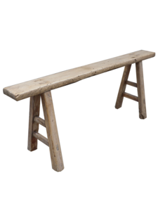 Snowdrops Copenhagen Bench Raw Elm wood - 126x15xh53cm - Unique Product