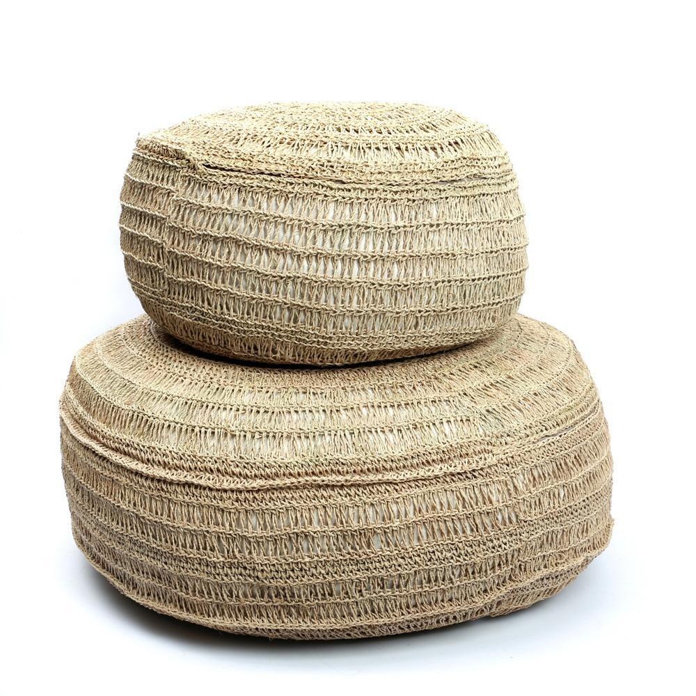 Bazar Bizar Pouf  seagrass - Natural - Ø60xh35cm - Natural