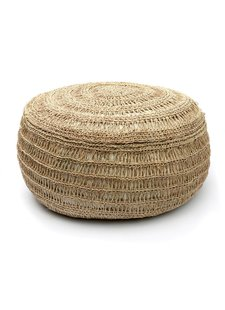 Bazar Bizar Pouf  seagrass - Natural - Ø60xh35cm - Natural