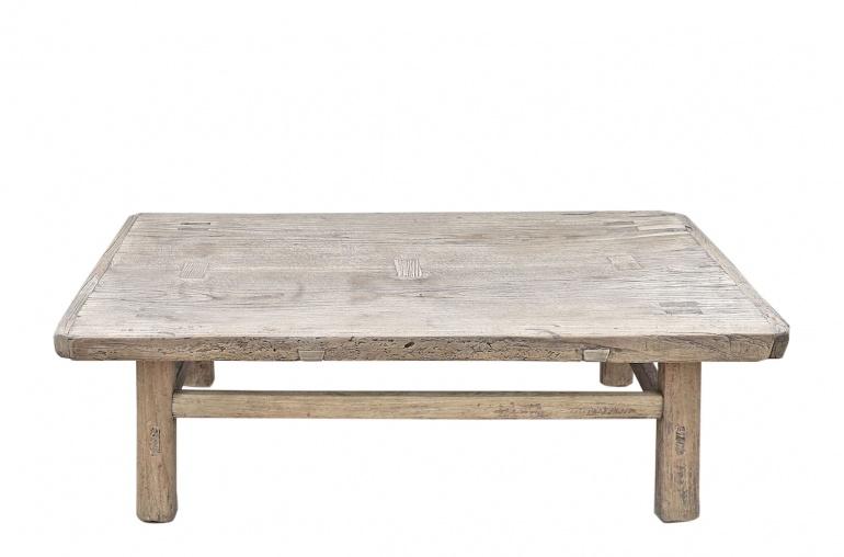Snowdrops Copenhagen Coffee table vintage Elm Wood - 114x69xh35cm - unique piece