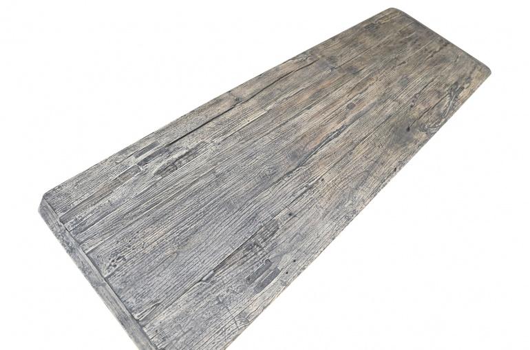 Snowdrops Copenhagen Table basse vintage bois d'orme - L154x49xh35cm - pièce unique