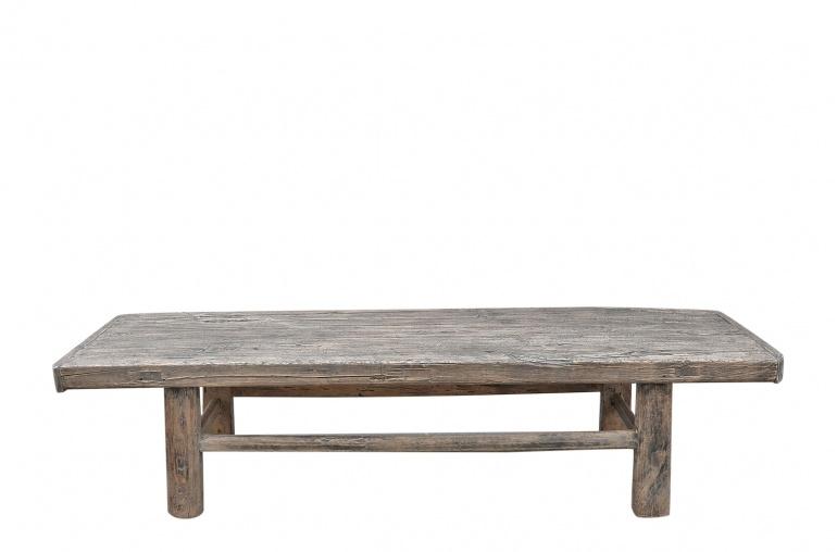 Snowdrops Copenhagen Coffee table vintage Elm Wood - L154x49xh35cm - unique piece