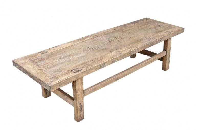 Snowdrops Copenhagen Coffee table vintage Elm Wood - L150x47xh39cm - unique piece