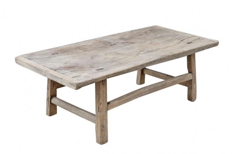Snowdrops Copenhagen Table basse vintage bois d'orme - L121x60xh42cm - pièce unique