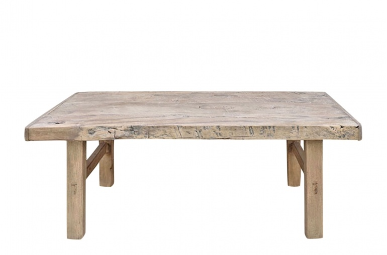 Snowdrops Copenhagen Coffee table vintage Elm Wood - L105x55xh40cm - unique piece