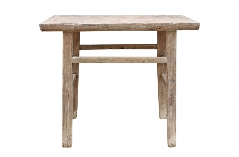 Petite Lily Interiors Table console vintage en Bois d'orme - Piece Unique - L90x52xh90cm