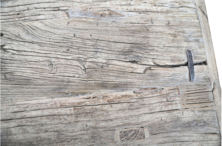 Petite Lily Interiors Table console vintage en Bois d'orme - Piece Unique - L110x42xh80cm