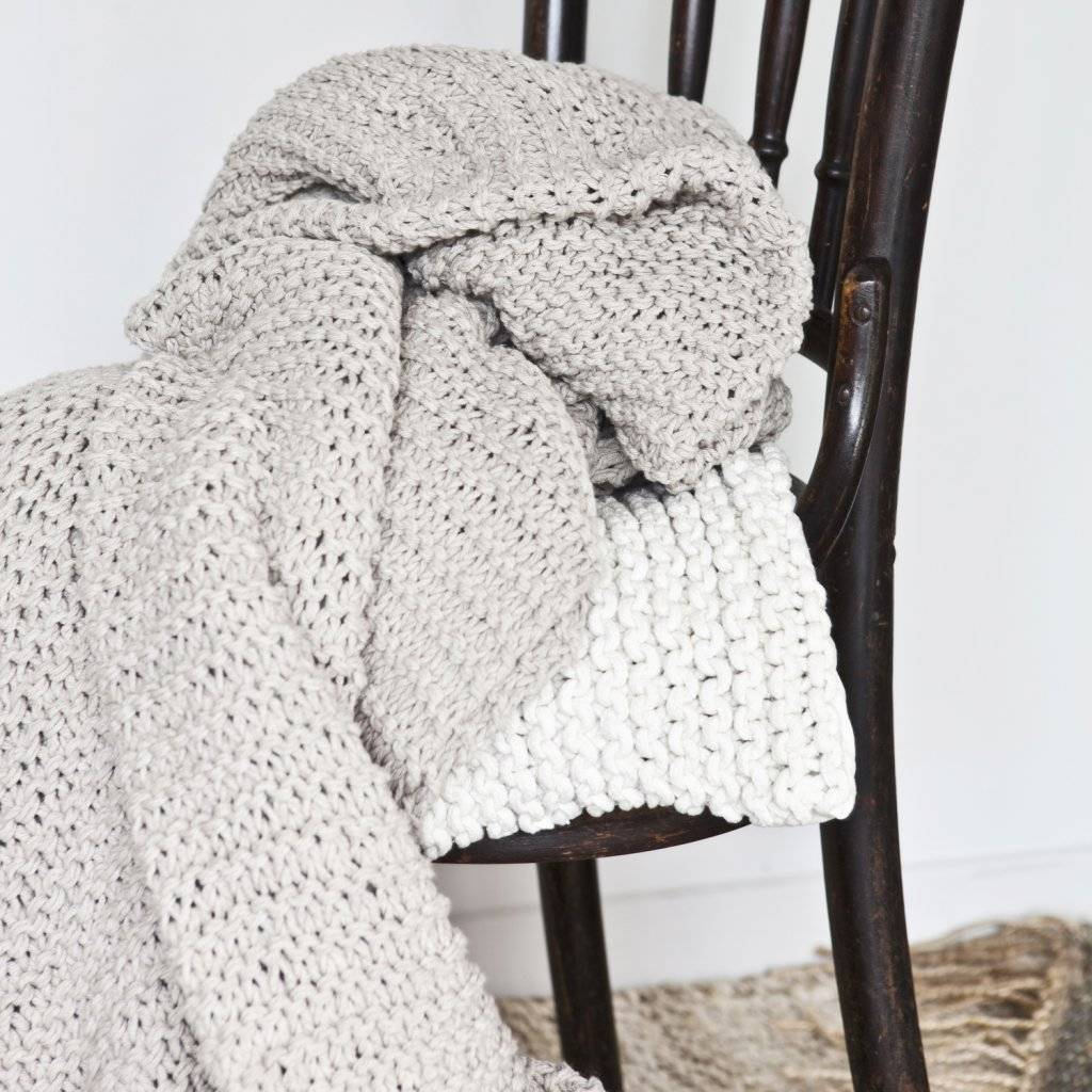 Tell me more Plaid tricot coton - Offwhite - Tell Me More