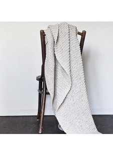Tell me more Knitted plaid in 100% cotton - Offwhite - 130x170cm - Tell Me More