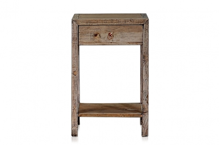 Petite Lily Interiors raw wood side table - elm wood - 45x40xh70cm