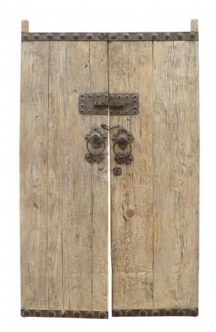 Petite Lily Interiors Porte décorative en bois d'orme - 130x5xH211cm