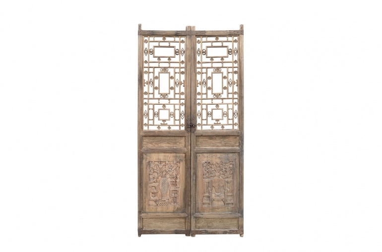 Petite Lily Interiors raw wood set of doors - 96x3xH197cm - SOLD
