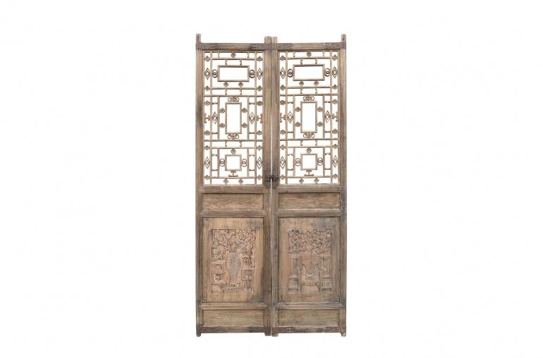 Petite Lily Interiors raw wood set of doors - 96x3xH197cm