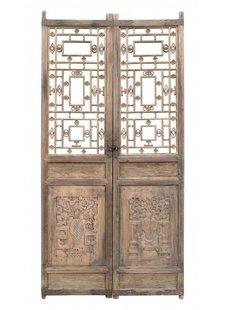 Petite Lily Interiors Porte décorative en bois brut - 96x3xH197cm - VENDU