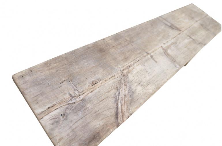 Snowdrops Copenhagen Table basse / Banc bois brut - L168x38xh50cm - pièce unique