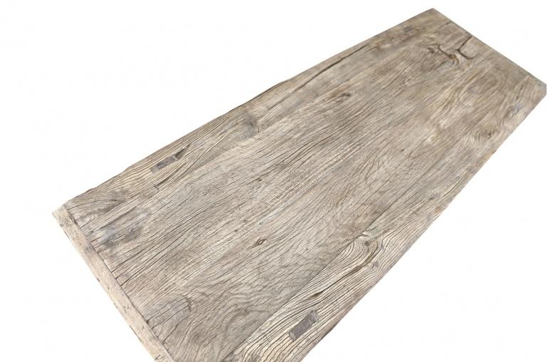 Snowdrops Copenhagen Table basse vintage bois d'orme brut - L144x53xh33cm - pièce unique